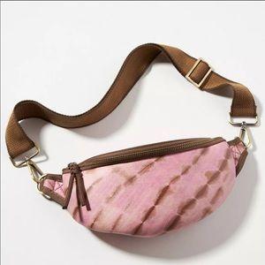 Anthropologie Tie Dye Pink Vegan Leather Belt Bag